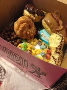 My mixed box from Voodoo Doughnut