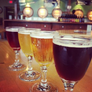 A variety of sour ales at Cascade Brewery