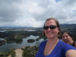 Me photobombing Kim at the top of La Piedra. (pc: Kim On A Whim)